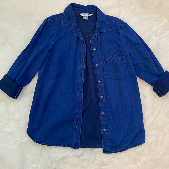 Old Navy Tops - Old Navy Button Down Denim Classic Shirt Top sz S